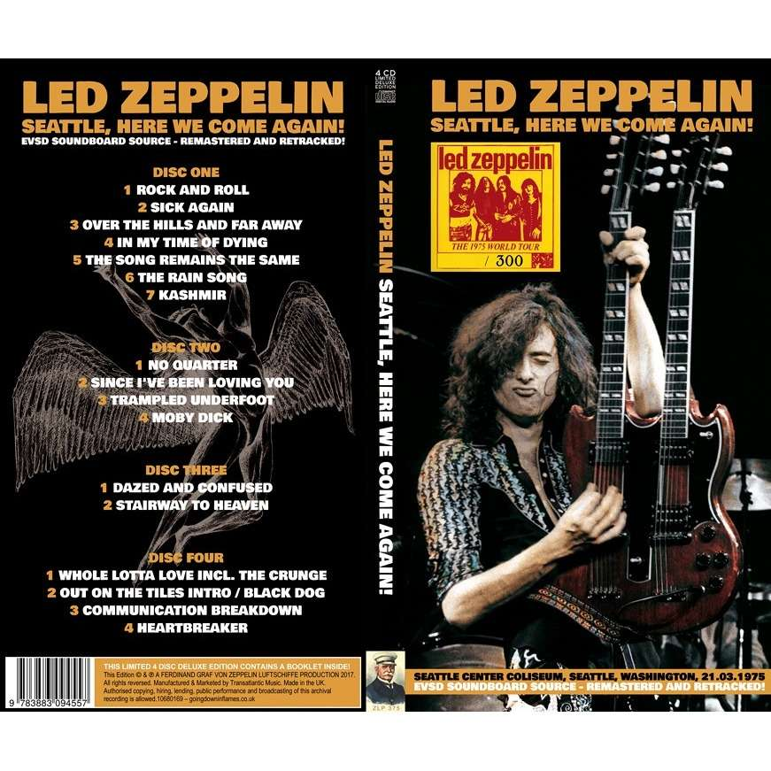 LED ZEPPELIN Seattle,Here We Come Again!