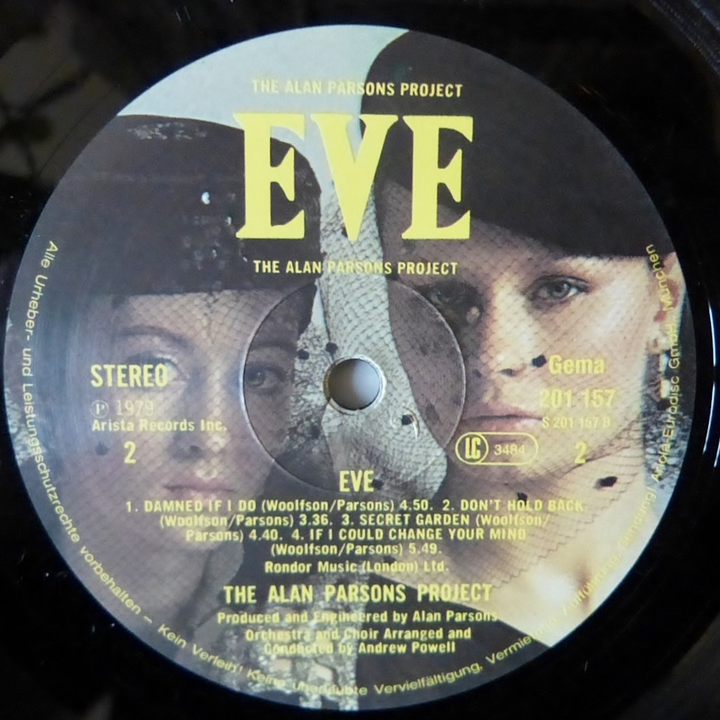 Eve By The Alan Parsons Project Lp Gatefold With