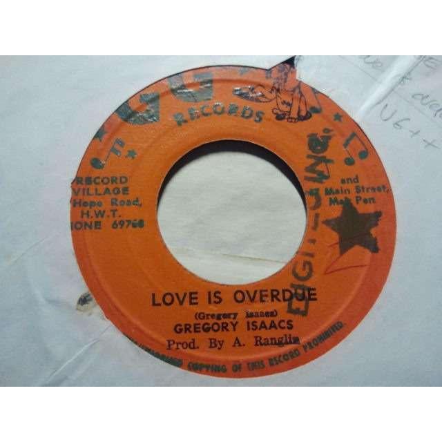 gregory isaacs 'LOVE IS OVERDUE' ORIG. JA