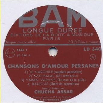 Chansons Damour Persannes Insert Texte Albert Levi Alvarez Guitare Fernando Fernandez Lavie De Chucha Assar Shusha Guppy Mini 33 13 Rpm
