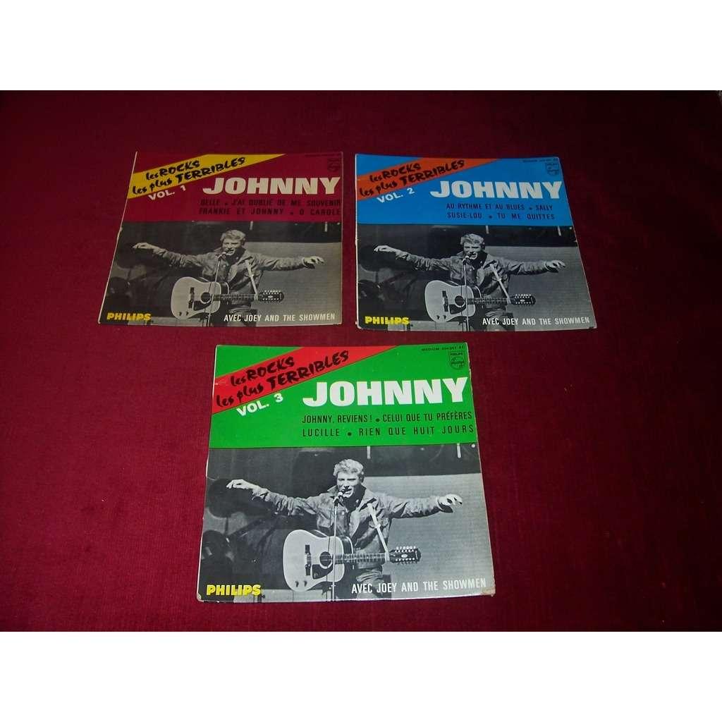 JOHNNY HALLYDAY -LES ROCKS LES PLUS TERRIBLES VOL 1 / 2 / 3