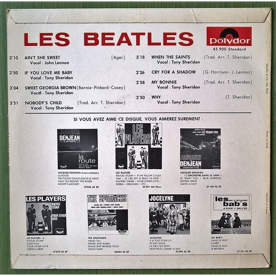 les beatles ain' t she sweet / if you love me baby / sweet georgia brown / nobody' s child / + 4
