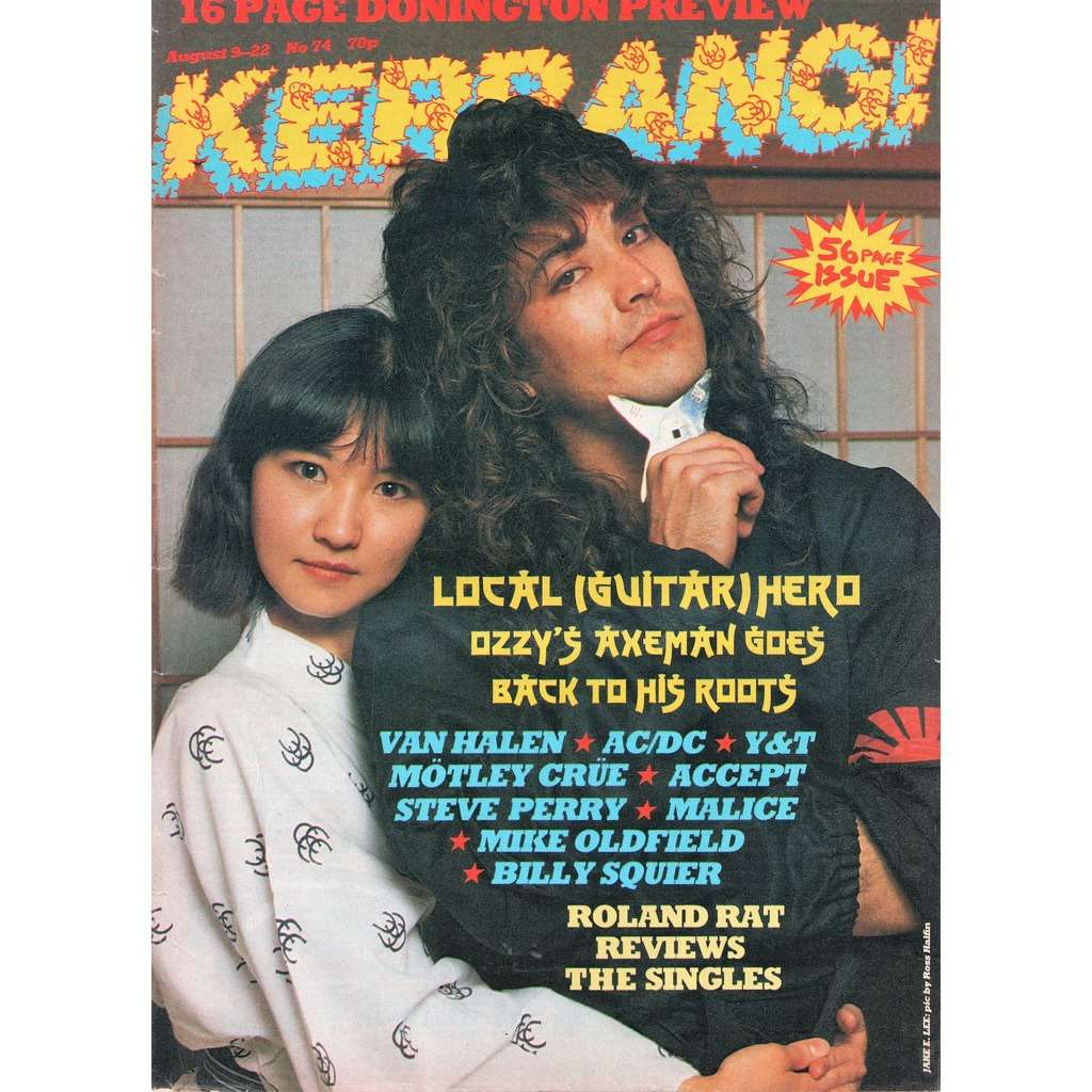 kerrang n 74 aug 1984 uk 1984 jake e lee front cover metal