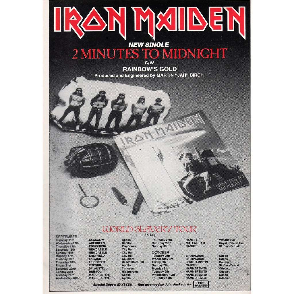 Two Minutes To Midnight Uk 1984 Promo Type Advert Single Release