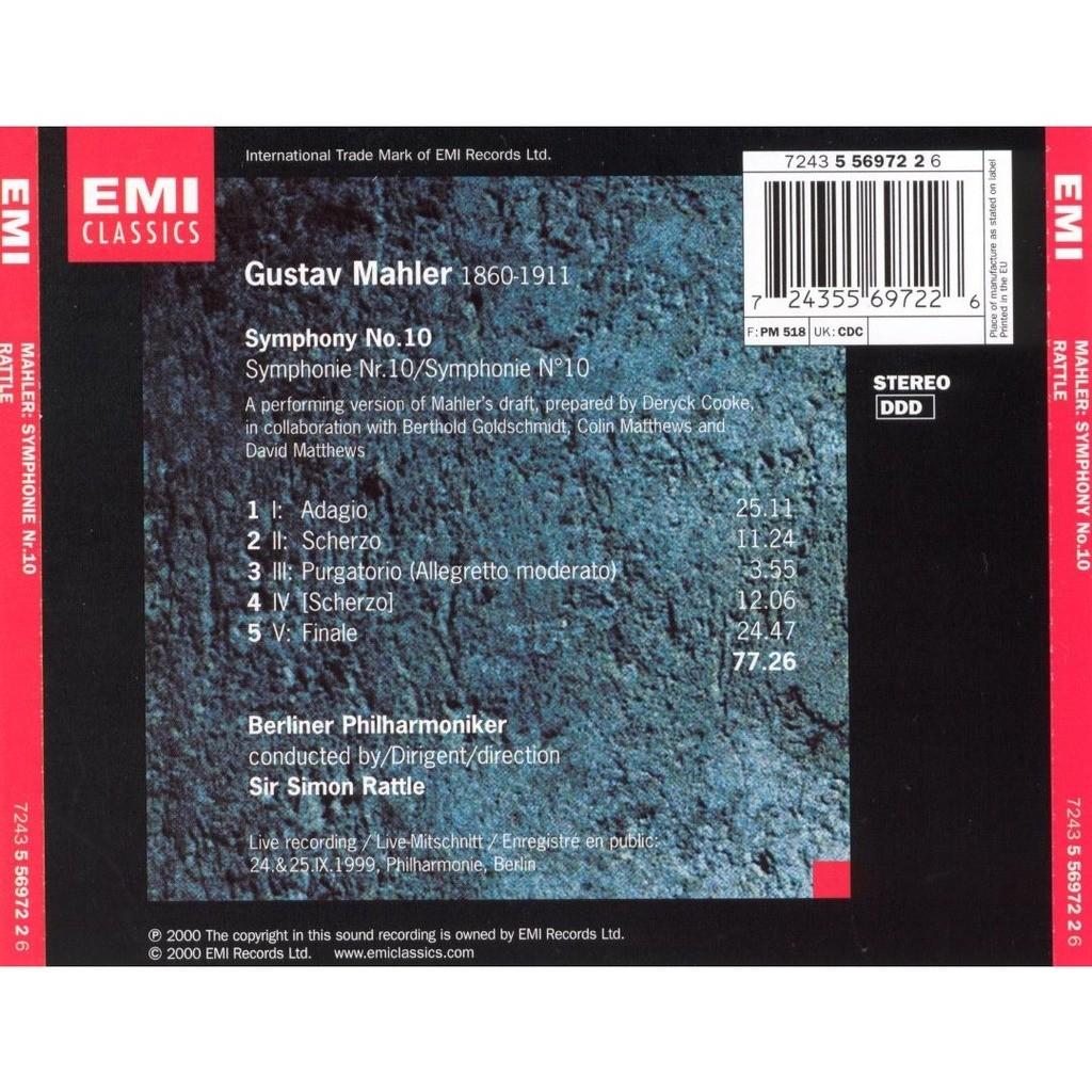 Symphony no.10 (after cooke) / simon rattle, berlin philharmonic ...