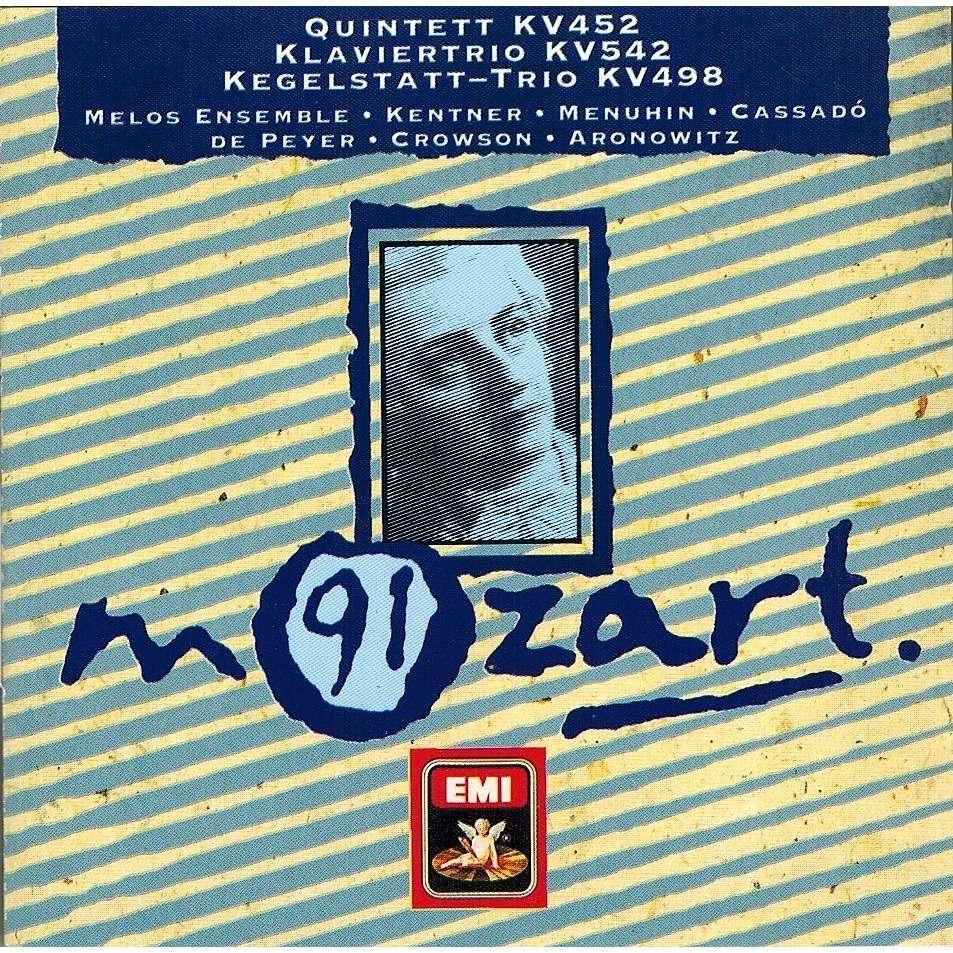 Mozart, Wolfgang Amadeus Clarinet Quintet; Piano Trio; Kegelstatt Trio / Melos Ensemble, Yehudi Menuhin, Et Al
