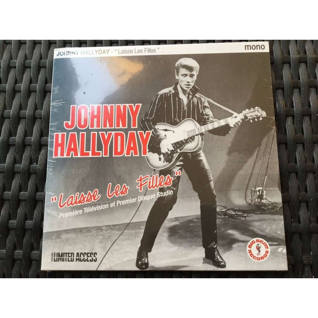 HVC MUSIC  BIG BEAT RECORDS : johnny hallyday 'laisse les filles' premiére tv + premier disc studio - 7inch