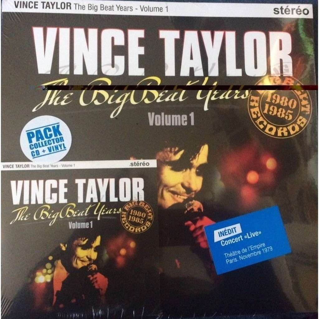 HVC MUSIC  BIG BEAT RECORDS : VINCE TAYLOR BIG BEAT YEARS Volume 1 - 10 inch box