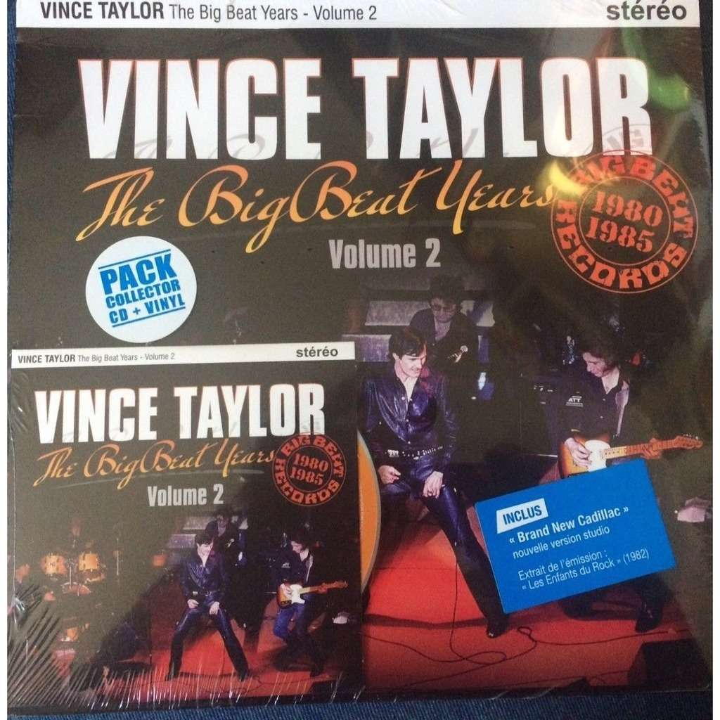 HVC MUSIC  BIG BEAT RECORDS : VINCE TAYLOR THE BIG BEAT YEARS Volume 2 - 10 inch box
