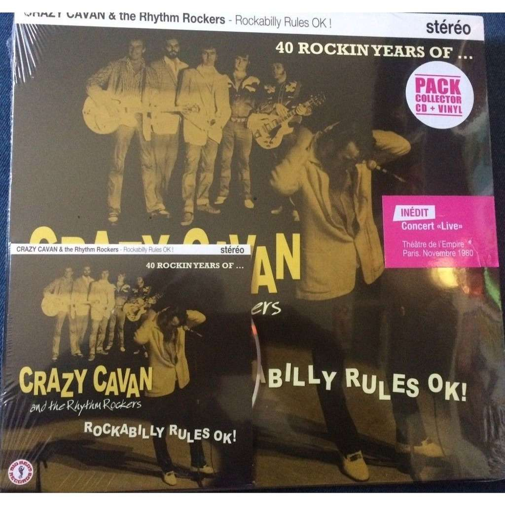 HVC MUSIC  BIG BEAT RECORDS : crazy cavan & the rythm rockers Live de 1982 - 10 inch box
