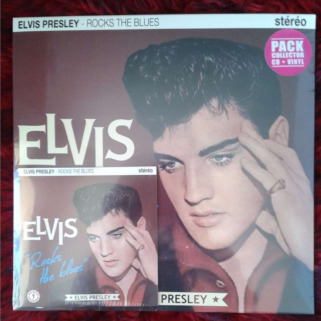 HVC MUSIC  BIG BEAT RECORDS : ELVIS-PRESLEY ELVIS ROCKS THE BLUES - 10 inch box