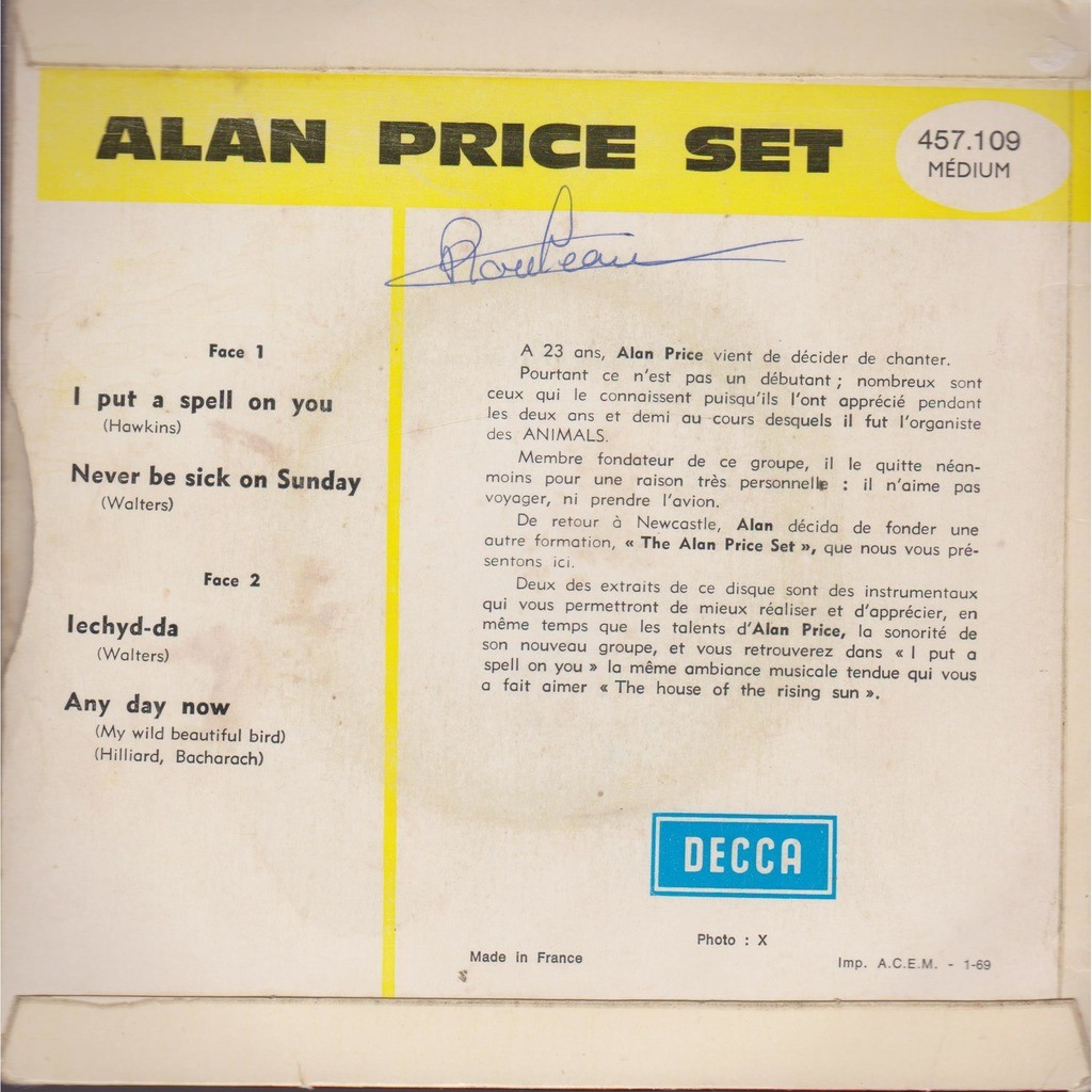 alan price set i put a spell on you
