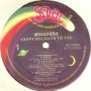 The Whispers - Happy Holidays To You (LP, Album, The Whispers - Happy Holidays To You (LP, Album, RE)