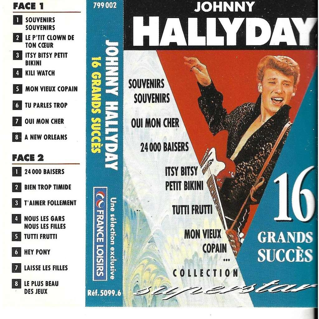 Hallyday Johnny 16 grands succès