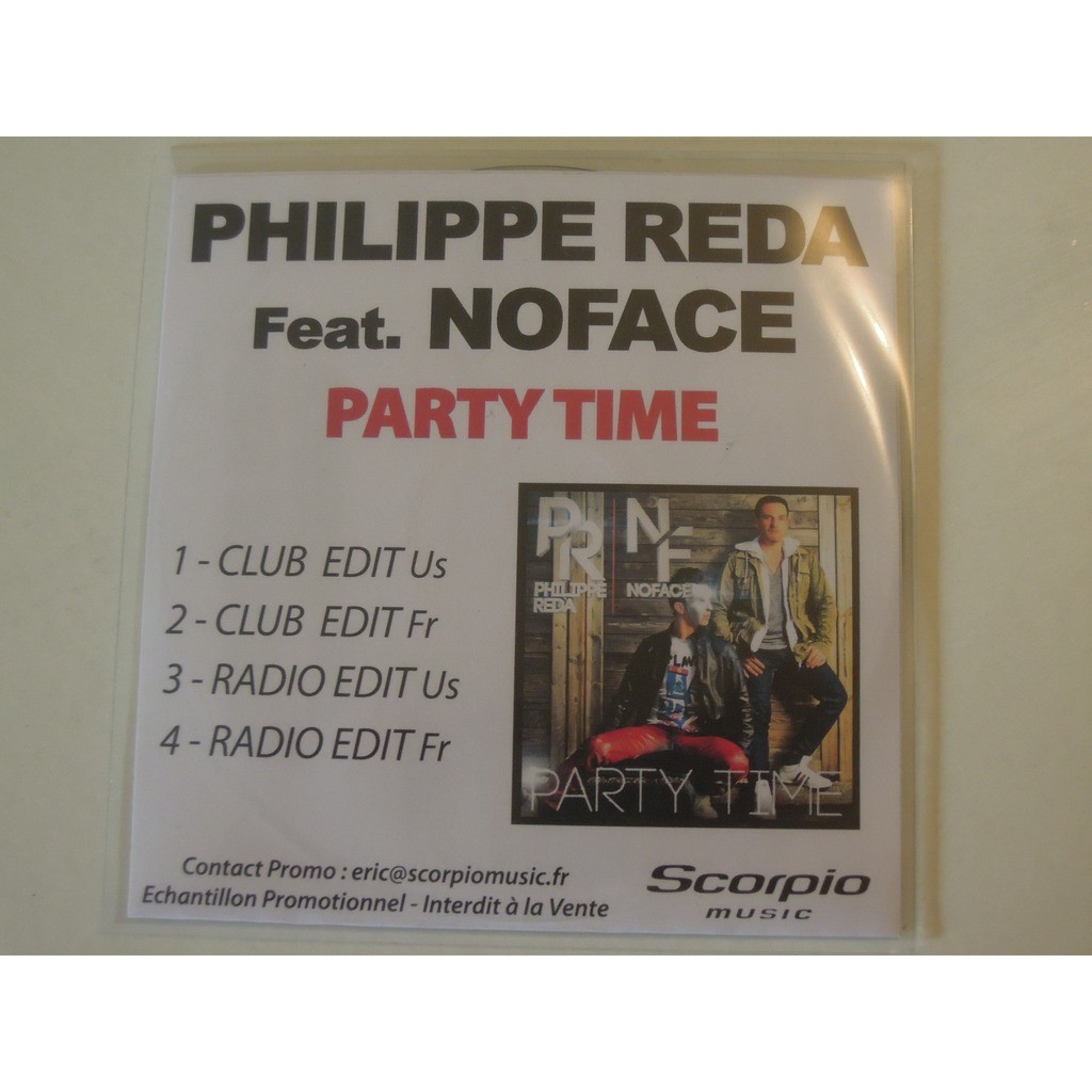 philippe reda & no face noface party time promo 4 tracks
