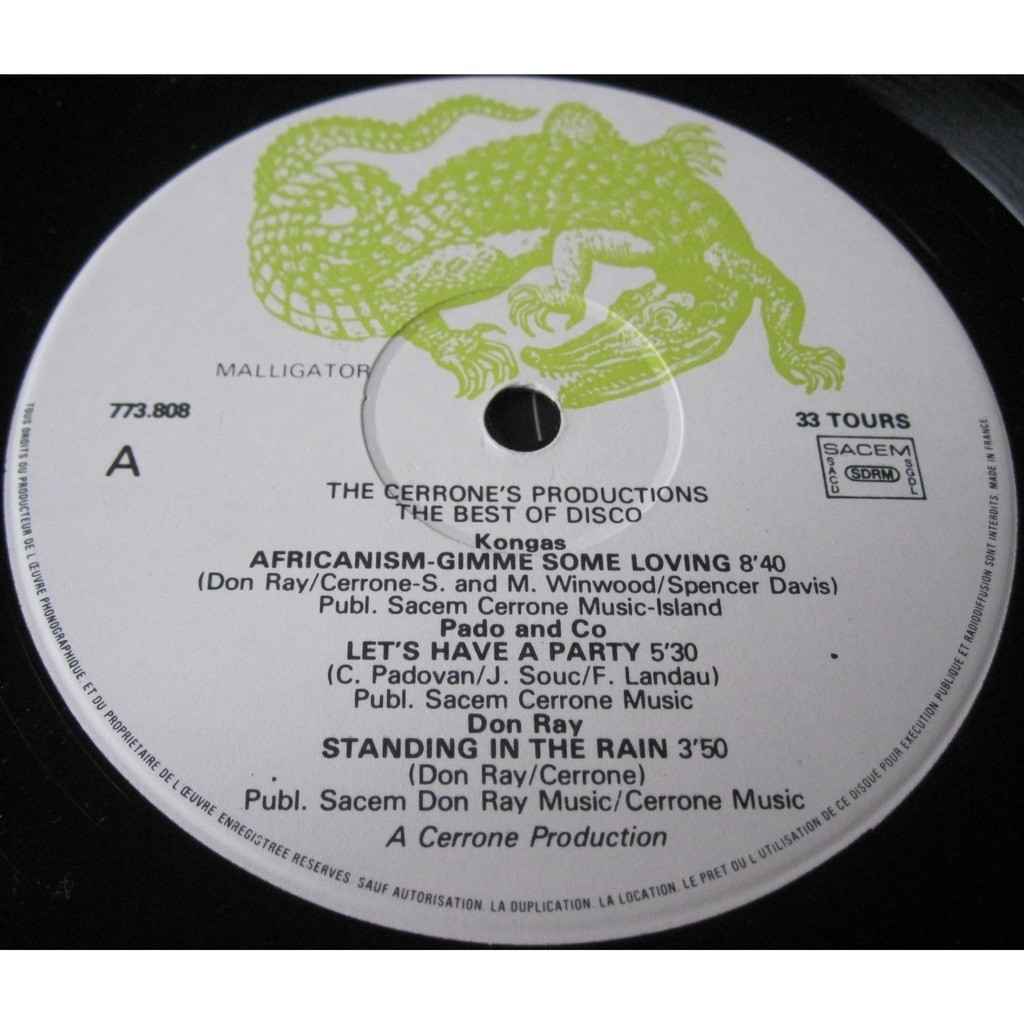 kongas, don ray, revelacion, Five letters... Various - best of disco