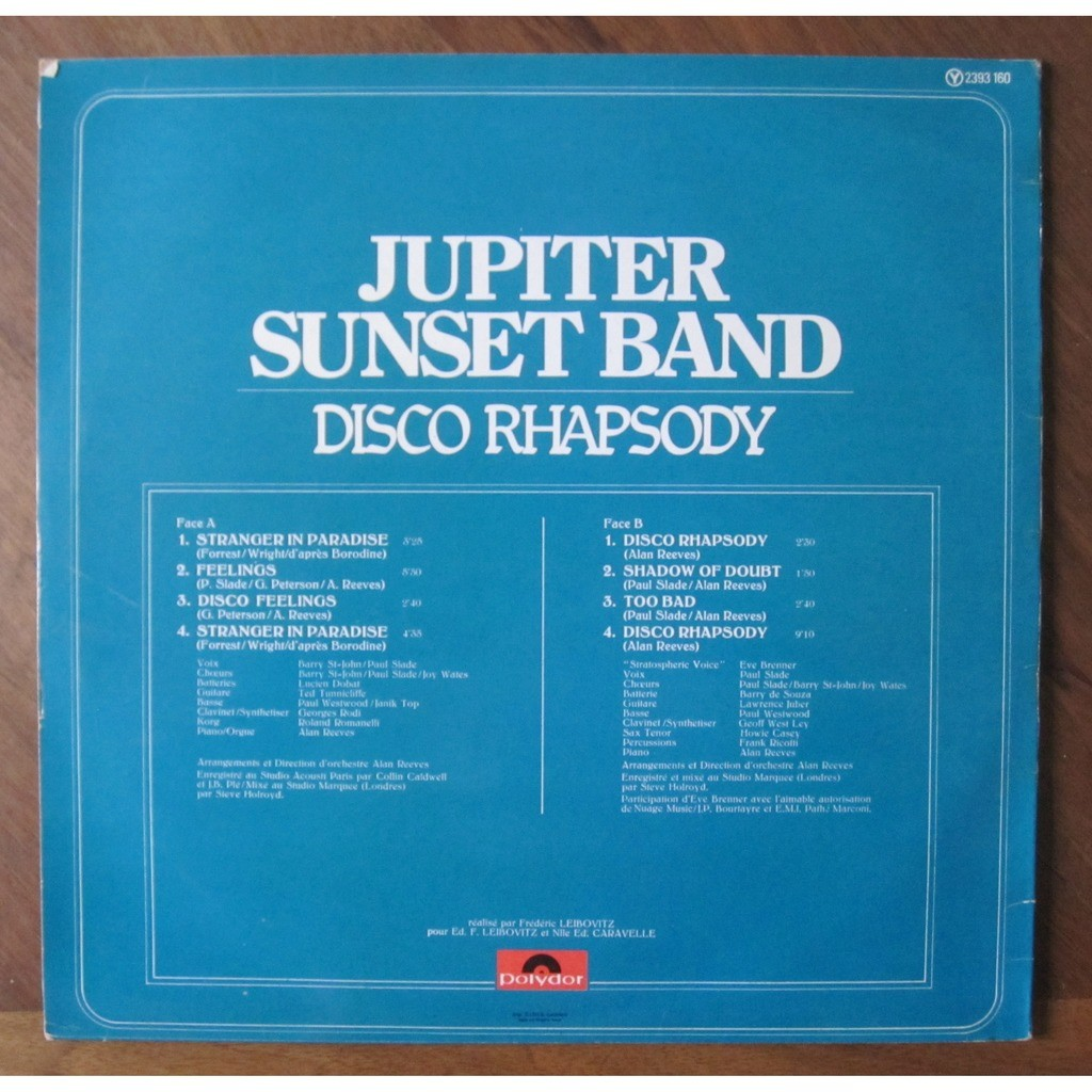 JUPITER SUNSET BAND disco rhapsody