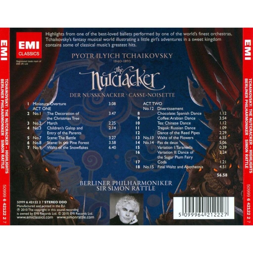 Tchaikovsky, Pyotr Ilyich Nutcracker (Highlights) / Simon Rattle, Berlin Philharmonic Orchestra
