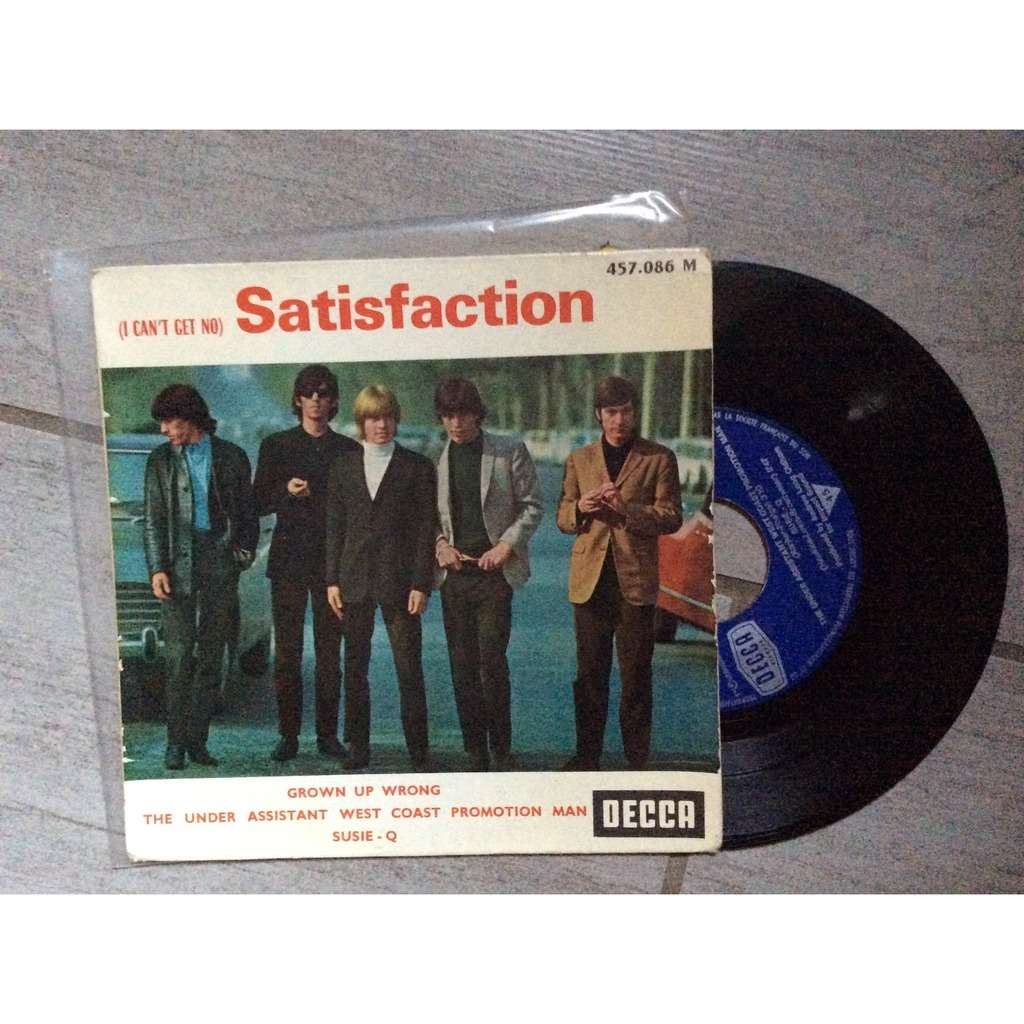 ROLLING STONES (I CAN'T GET NO) SATISFACTION EP + GROWN UP WRONG / THE UNDER ASSISTANT WEST COAST PROMOTION MAN /