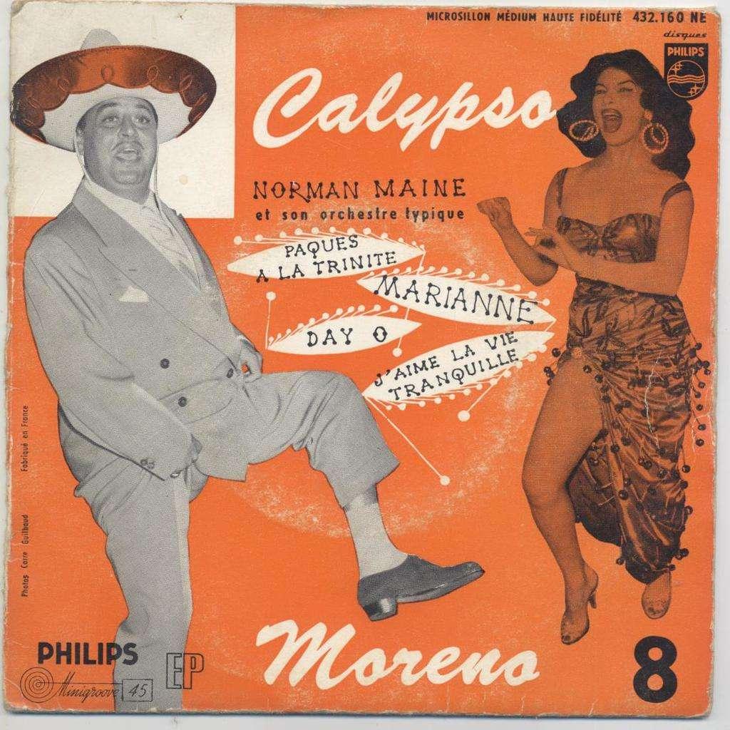 Dario Moreno Norman Maine Et Son Orchestre Calypso Moreno - 8 ( Day O / Marianne / J'Aime La Vie Tranquille /Pâques A La Trinité )