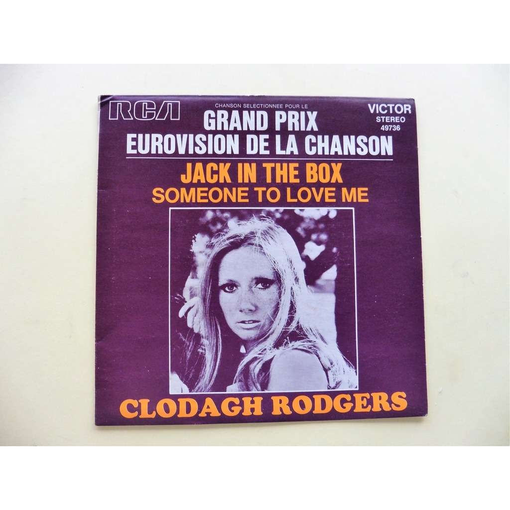 clodagh rodgers EUROVISION JACK IN THE BOX / SOMEONE TO LOVE ME