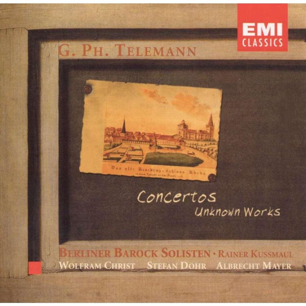 Telemann, Georg Philipp Concertos; Unknown Works / Berliner Barock Solisten, Rainer Kussmaul