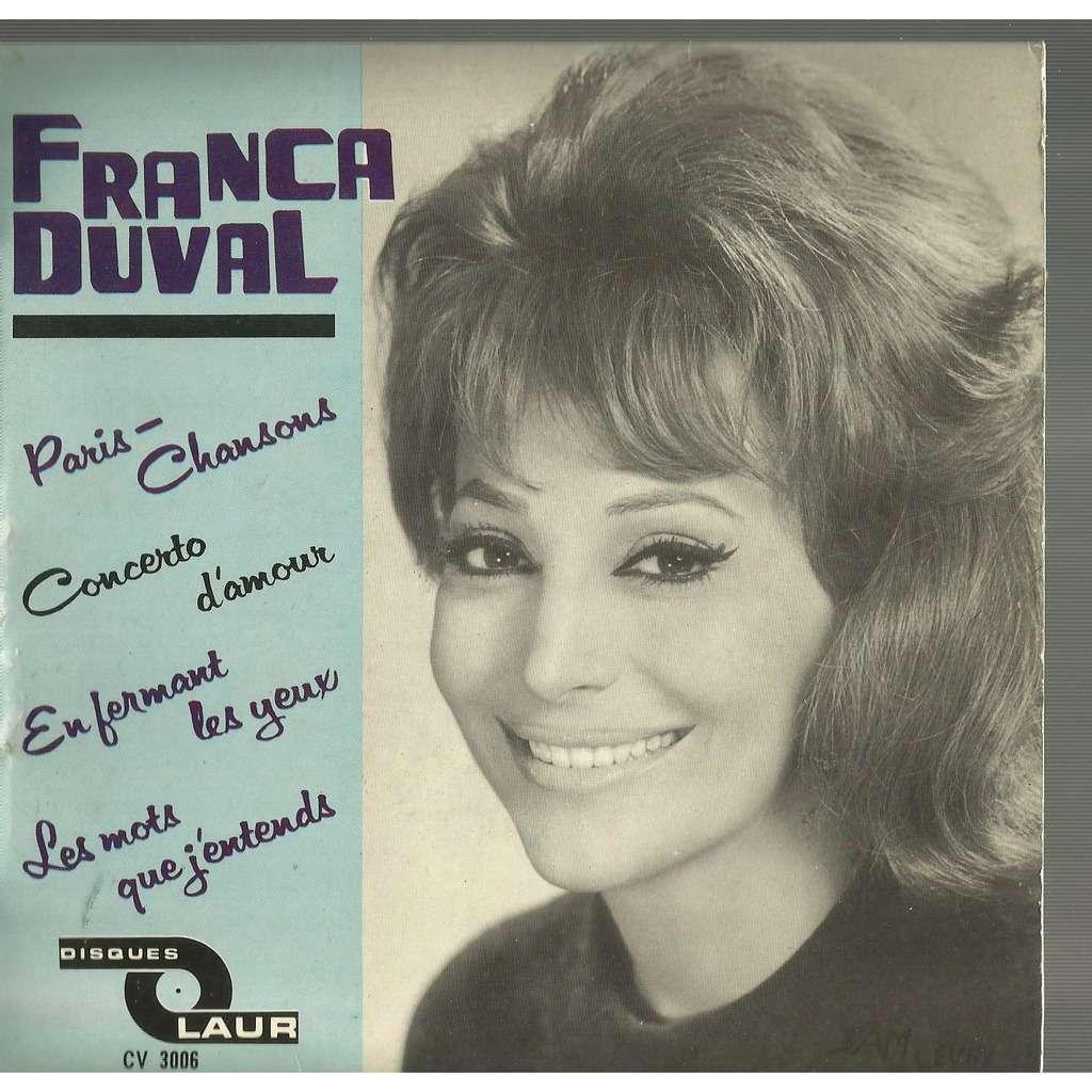 franca duval paris-chanson