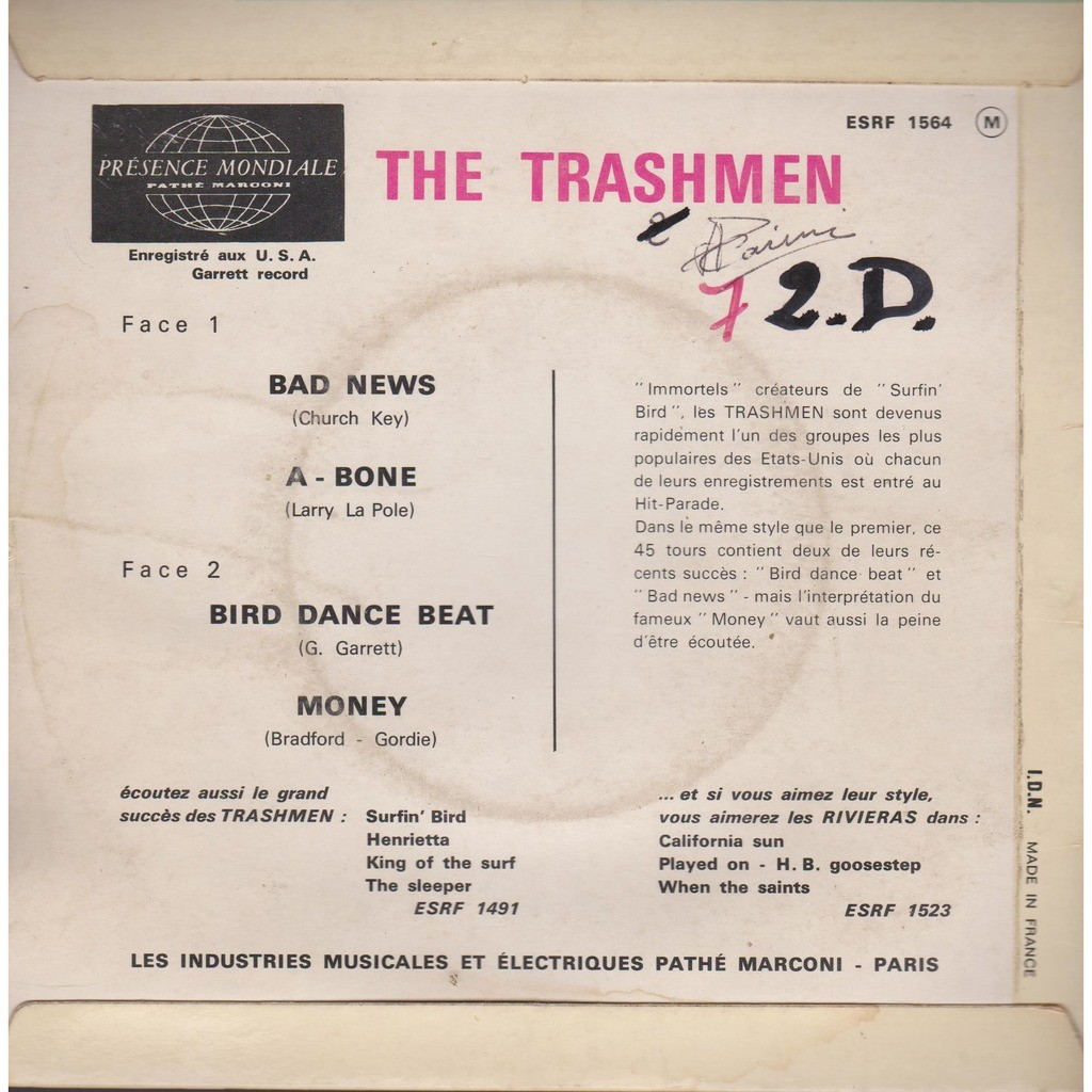 THE TRASHMEN bad news