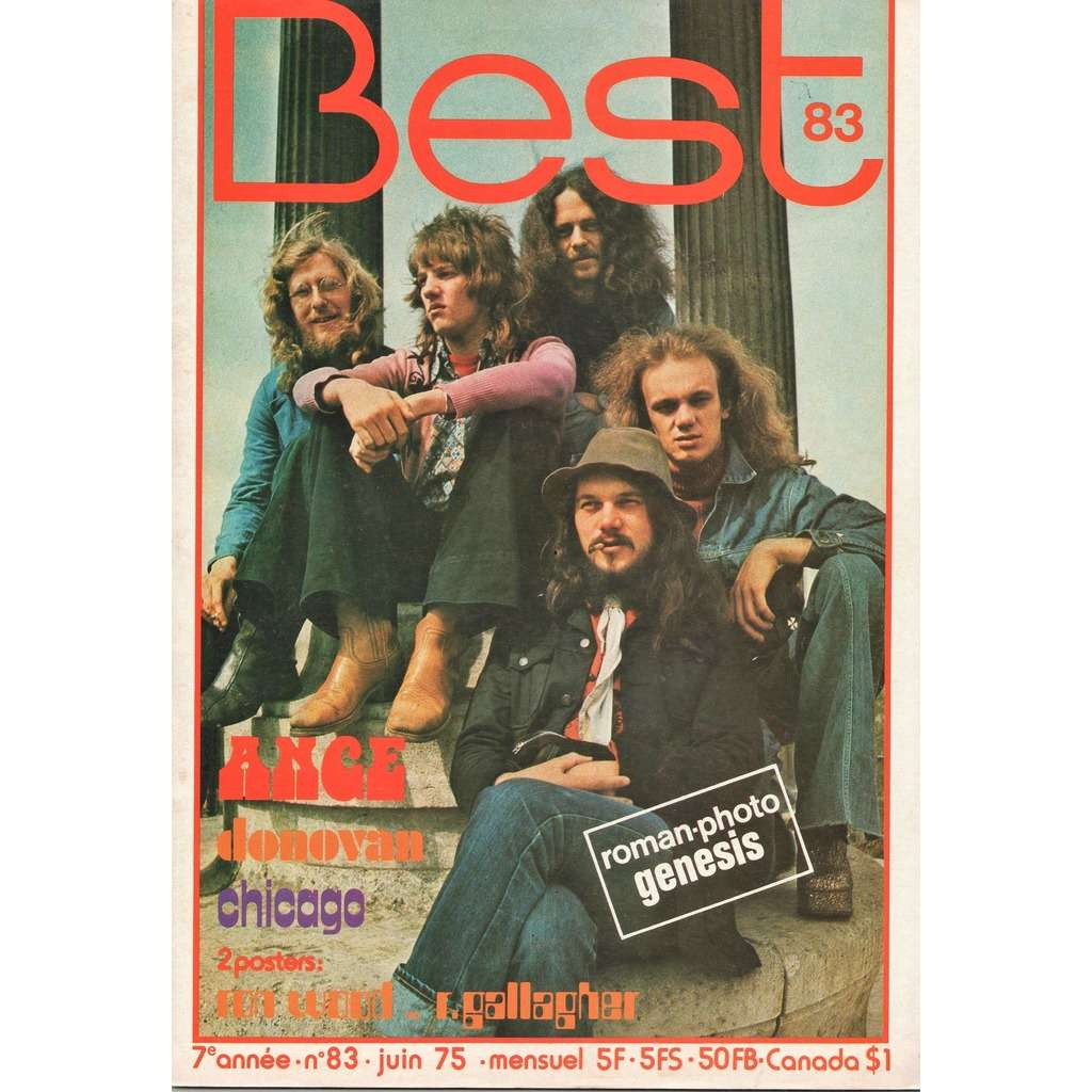 Ange Best (N 83 June 1975) (French 1975 Ange front cover music magazine)