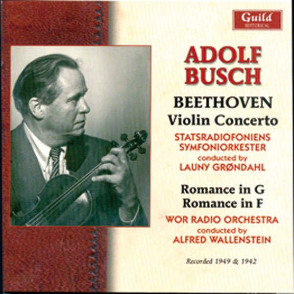 Adolf Busch Beethoven : Concerto pour violon