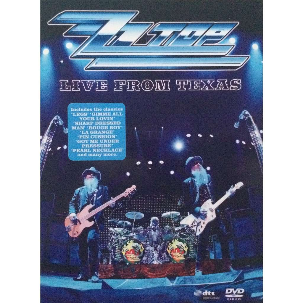 ZZ TOP - LIVE FROM TEXAS (EURO PRESSING 1 DVD DIGIPACK + 8 PAGES BOOK)