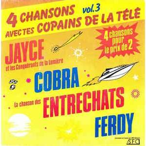 4 chansons avec tes copains de la télé vol3 jayce+cobra+entrechats+ferdy