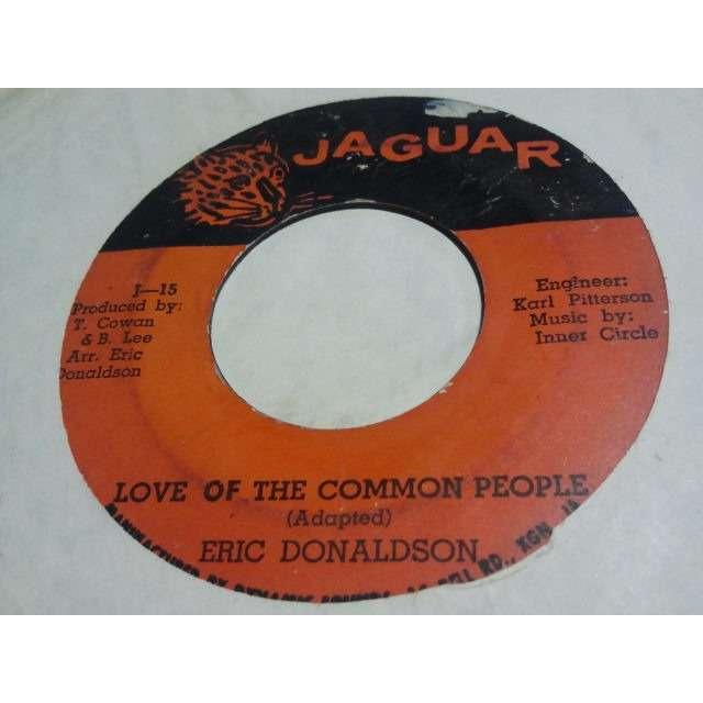ERIC DONALDSON / THE INNER CIRCLE LOVE OF THE COMMON PEOPLE / VERSION ORIG.