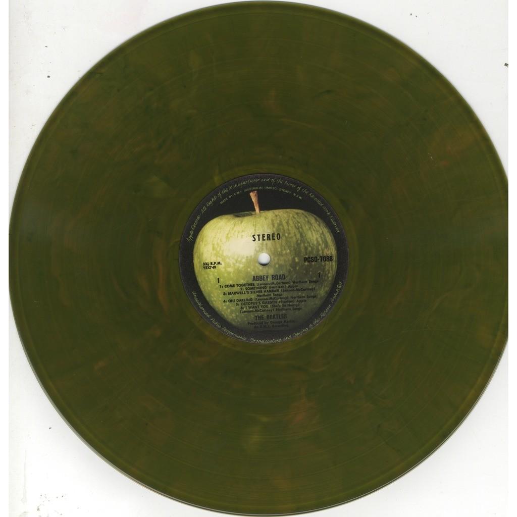 Beatles abbey road (australia green marbled vinyl)