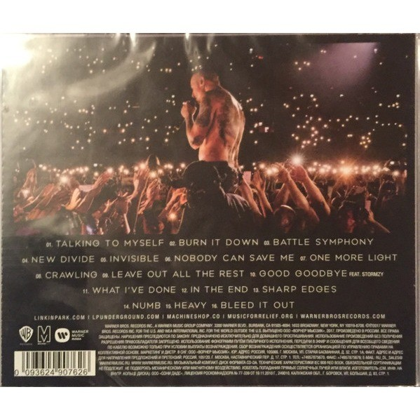 One More Light Live By Linkin Park Cd With Techtone11