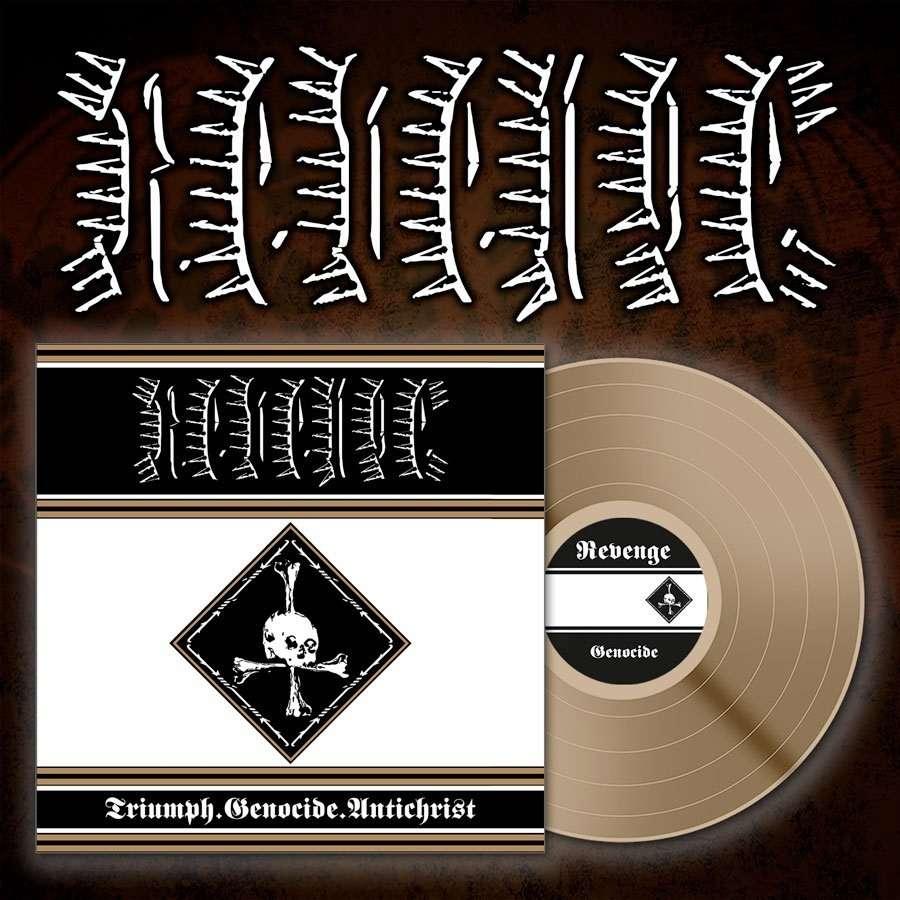 REVENGE Triumph Genocide Antichrist. Bronze Vinyl