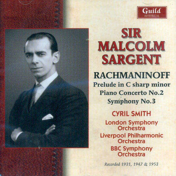 sir malcolm sargent Rachmaninoff,