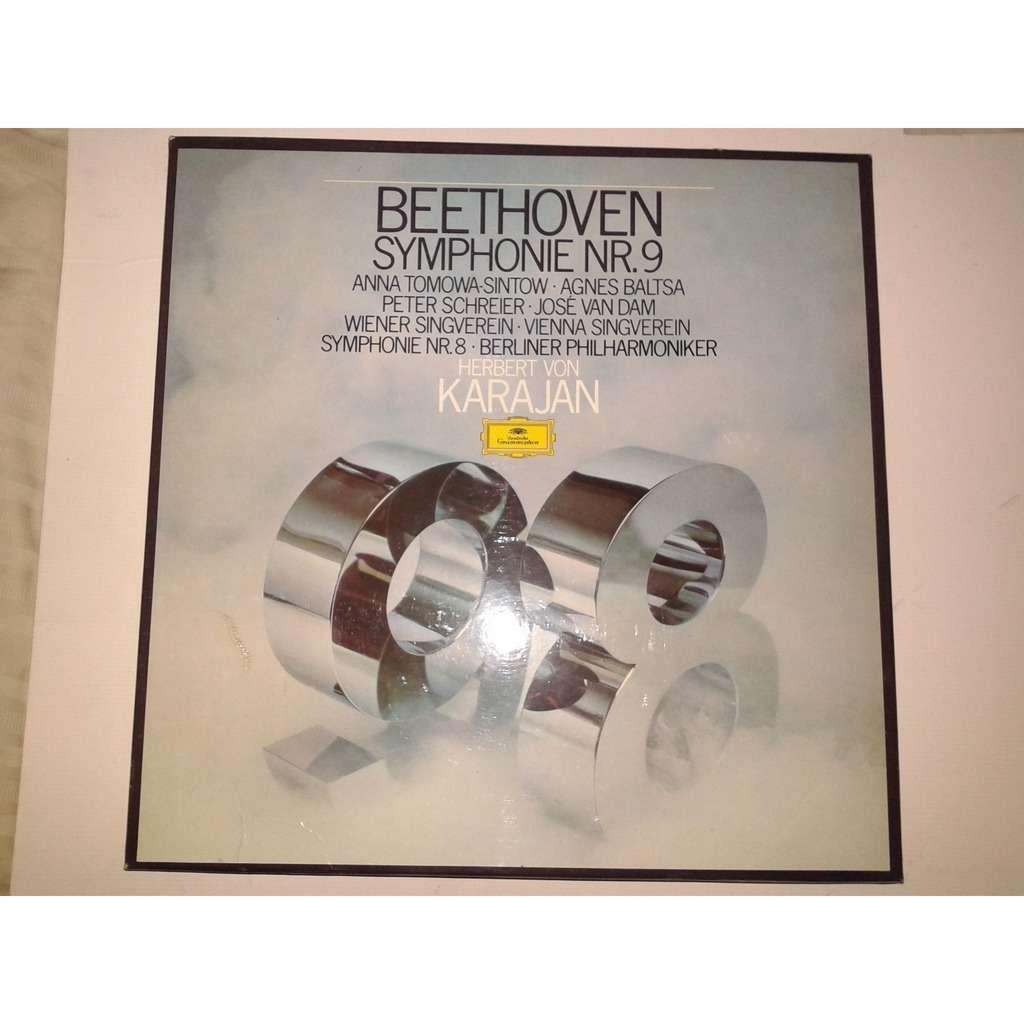 herbert von karajan deutsche grammophon beethoven symphonie nr 8 et 9 coffret 2 disques