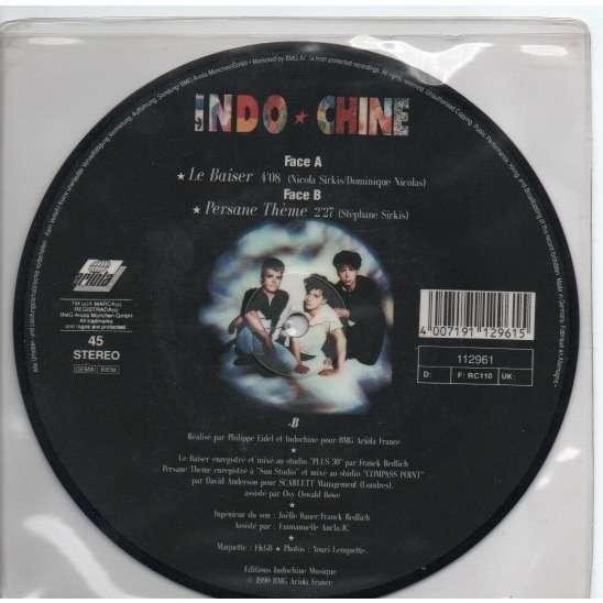 INDOCHINE Picture disque - LE BAISER ( Pochette plastique transparent sans mention )