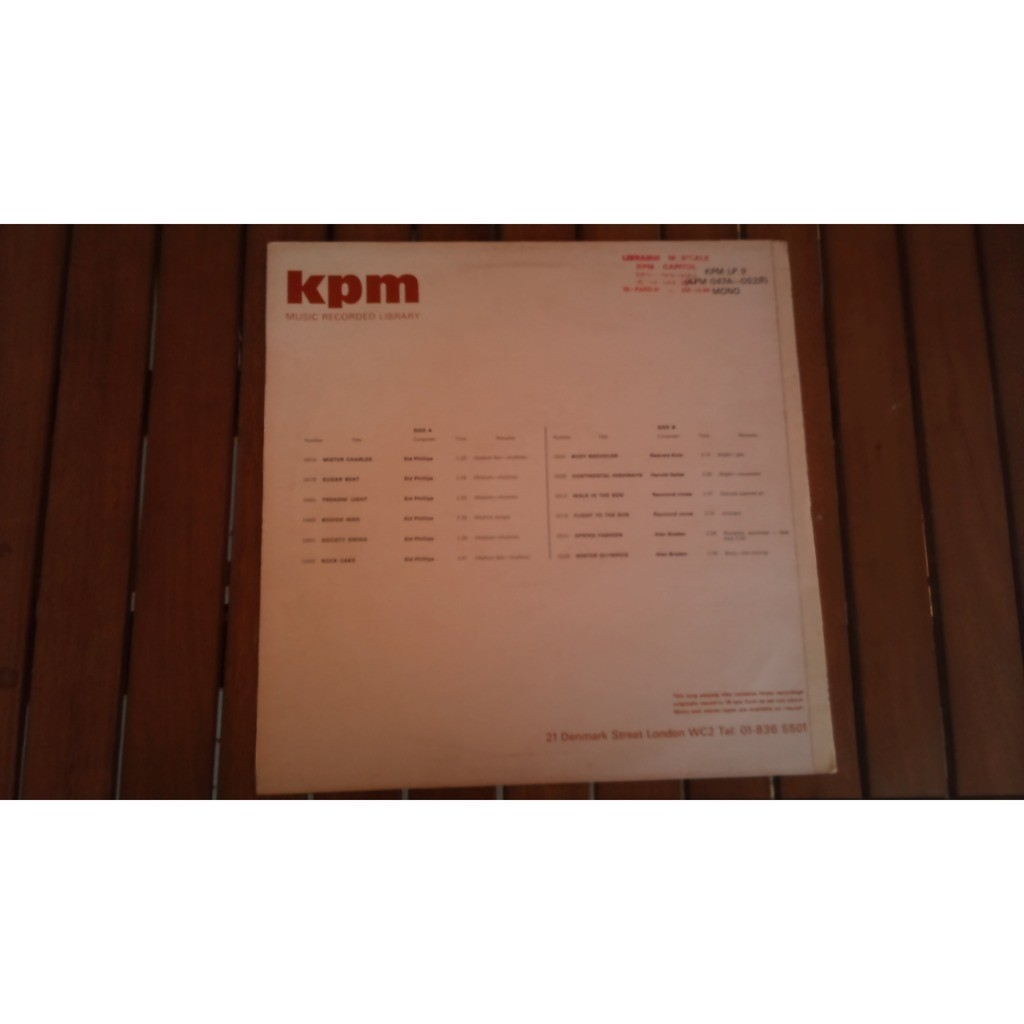 Lp 9 by Kpm Music Record Library, LP with graffity