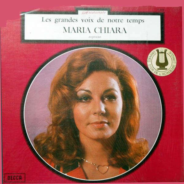 Maria Chiara, soprano Grande voix de notre temps