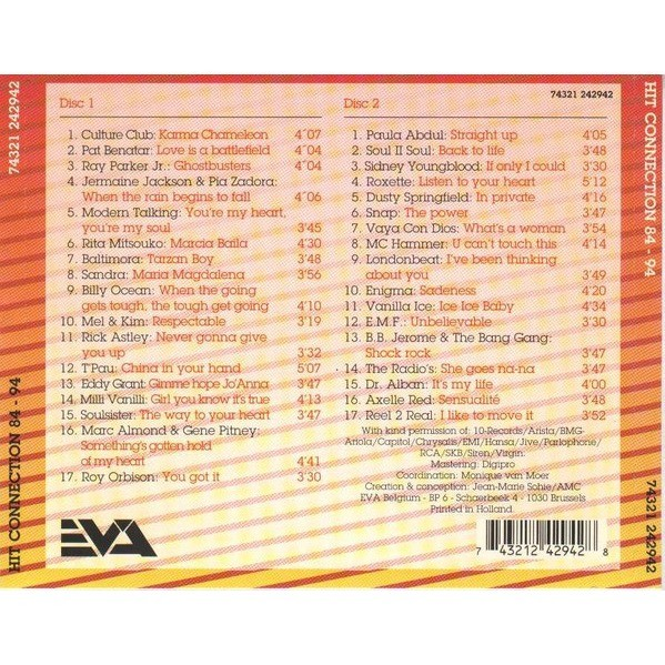 Axelle Red, Roxette, Modern Talking, Vaya Con Dios Hit Connection 84/94 (2cd)
