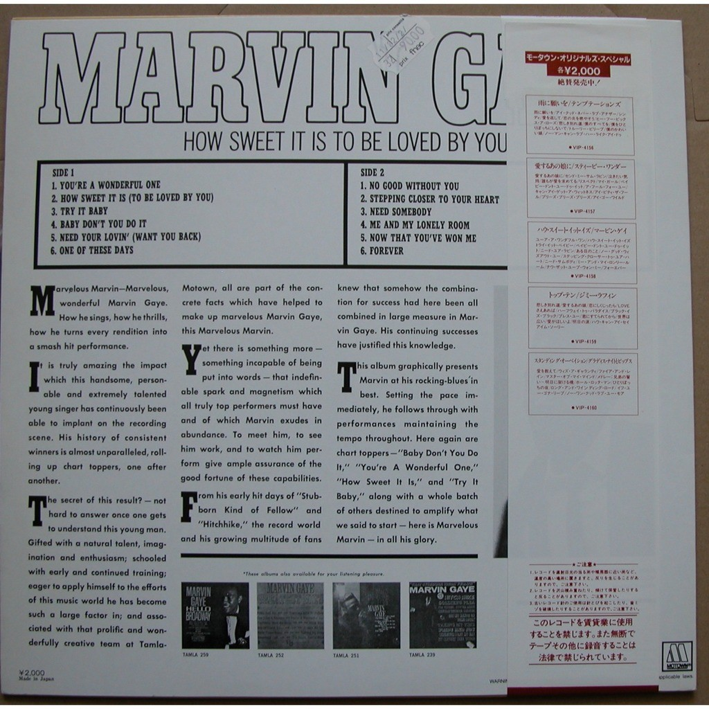 marvin gaye & kim weston how sweet it is to be loved by you