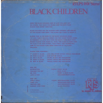 Black Children Sledge Funk Group Love is fair