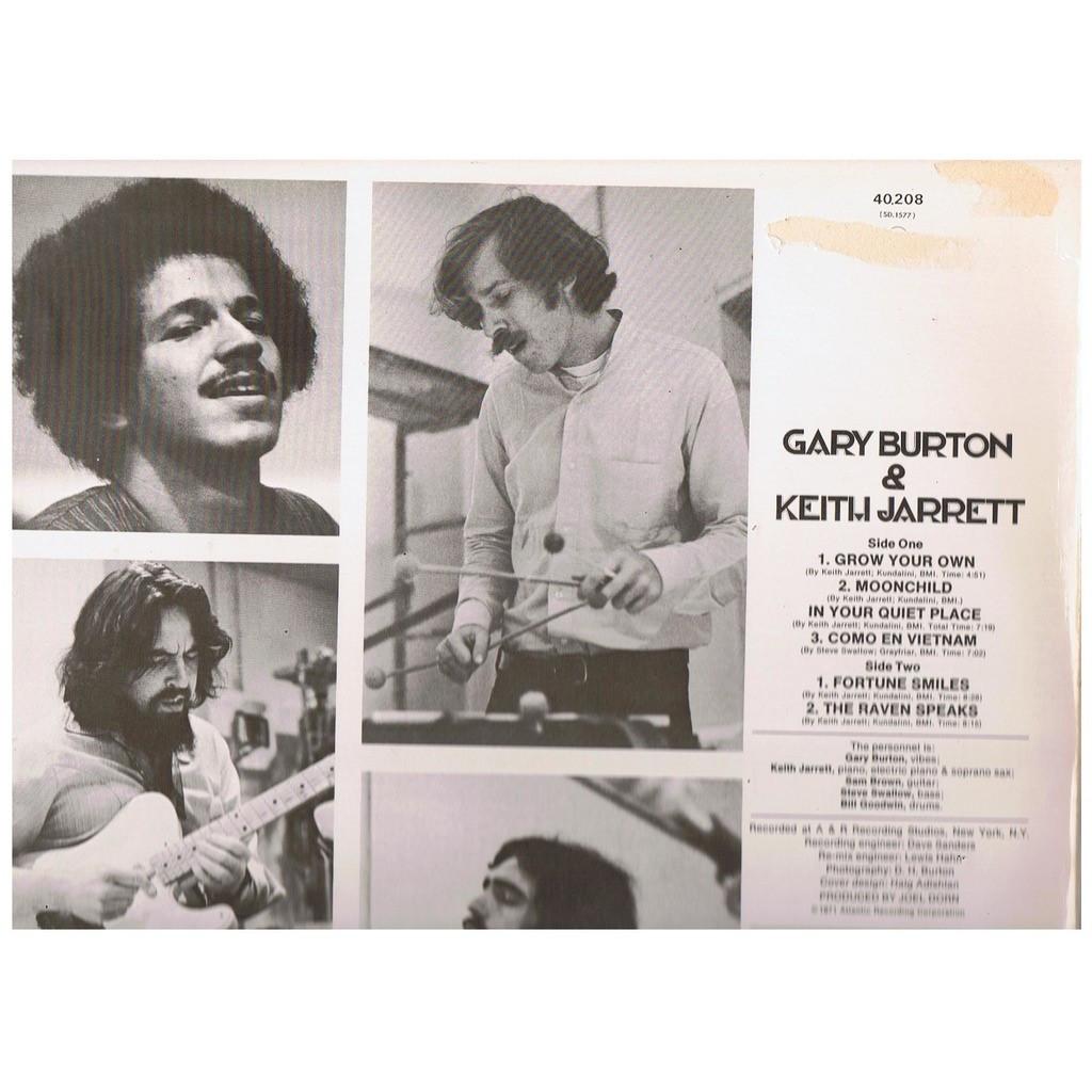 GARY BURTON & KEITH JARRETT GARY BURTON & KEITH JARRETT