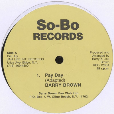 Barry Brown Pay Day / No more sugar