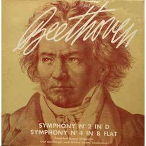 beethoven,frankfurt opera orchestra,carl bamberger Symphony No.2 In D; Symphony No.4 In B Flat