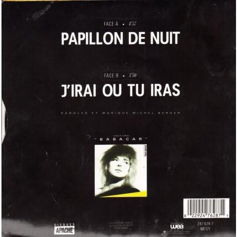 Gall France / Goldman Jean-Jacques Papillon de nuit