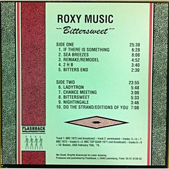 Roxy Music Bittersweet