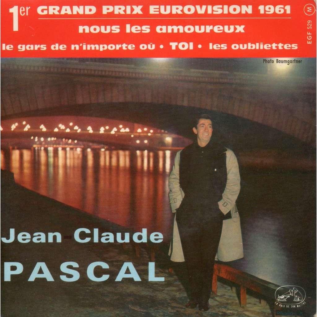 JEAN-CLAUDE PASCAL (SERGE GAINSBOURG) (EUROVISION 1961) NOUS LES AMOUREUX/LE GARS DE N'IMPORTE OU/TOI/LES OUBLIETTES